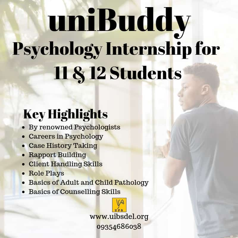 Psychology Internship for 11 & 12